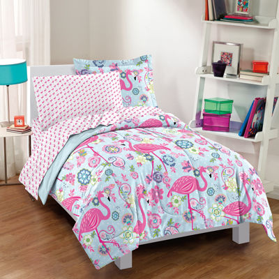 Dream Factory Flamingo Complete Comforter and Sheet Set