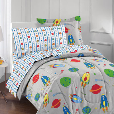 Dream Factory Space Rocket Twin 5-pc. Comforter Set