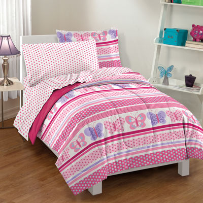 Dream Factory Butterfly Dots Comforter Set