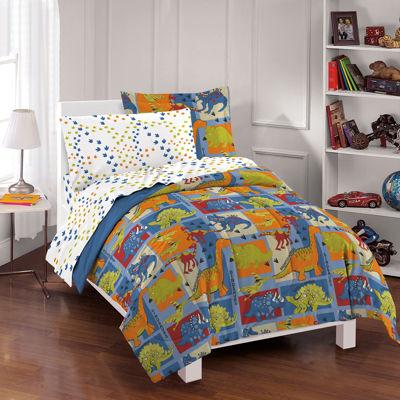 Dream Factory Dino Blocks Comforter Set
