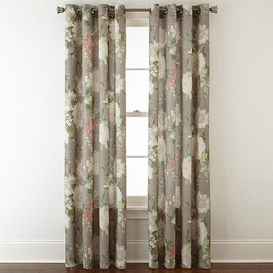 d4637af3fad JCPenney Home Farrah Grommet Top Curtain Panel JCPenney