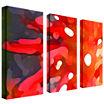 Red Sun 3-Panel Canvas Wall Art Set