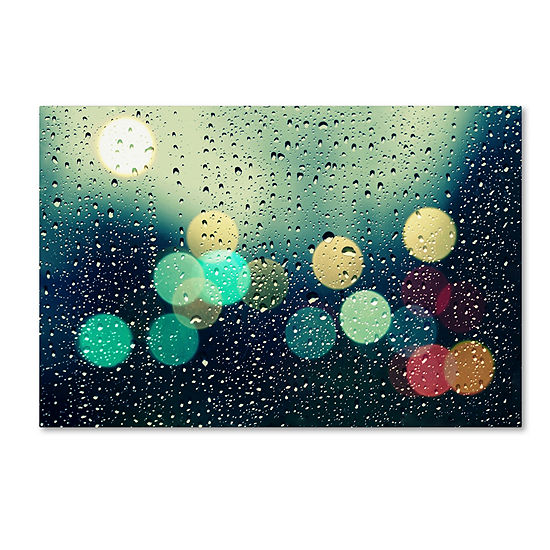 Rainy City Canvas Wall Art