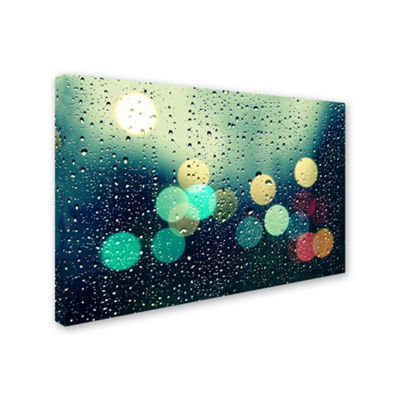 Rainy City Canvas Wall Art
