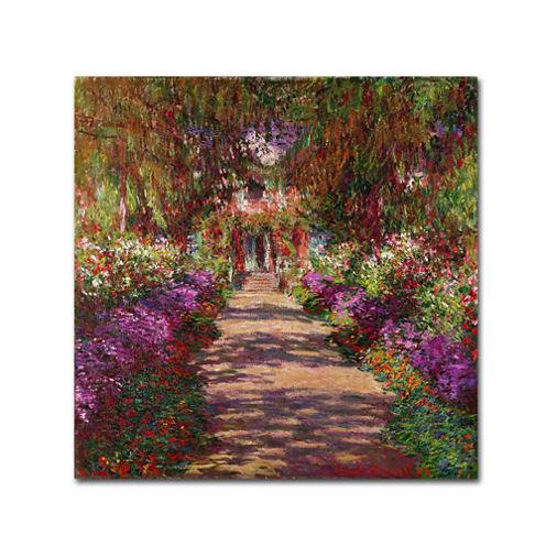 A Pathway in Monet's Garden Canvas Wall Art