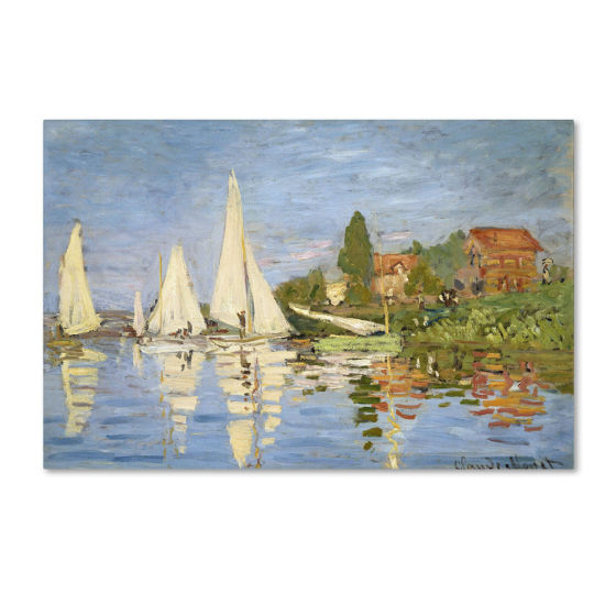 Regatta at Argenteuil Canvas Wall Art