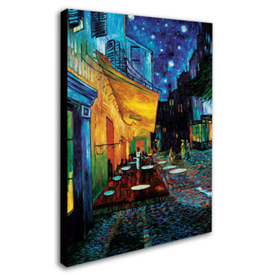 Café Terrace Canvas Wall Art