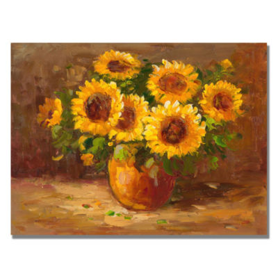 Sunflower Still Life Canvas Wall Art