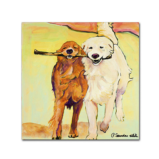 Stick With Me Dog Canvas Wall Art
