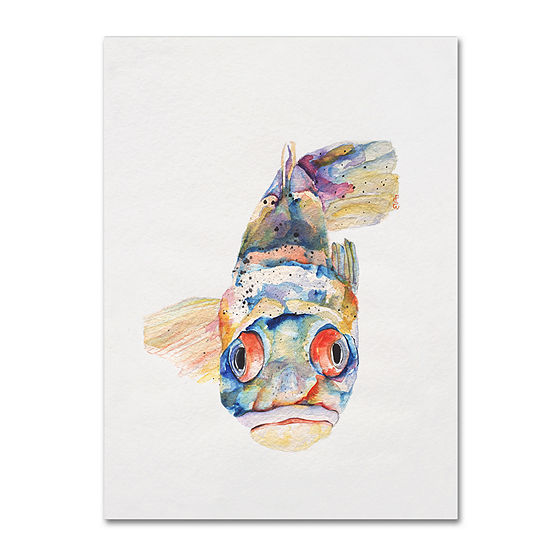 Blue Fish Canvas Wall Art