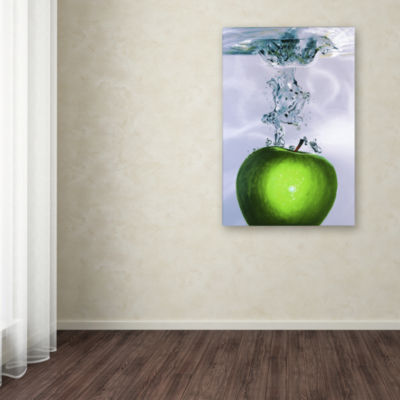 Apple Splash Canvas Wall Art