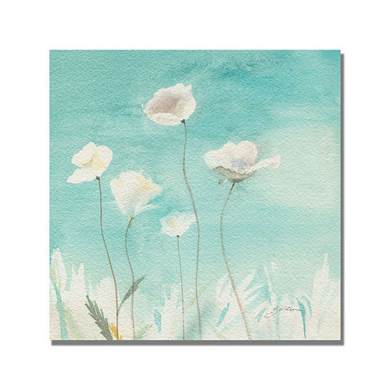 White Poppies Canvas Wall Art