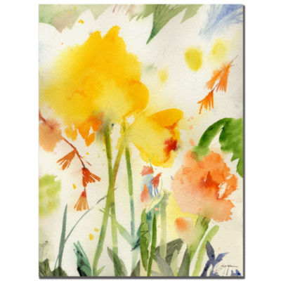 Garden Yellow Canvas Wall Art