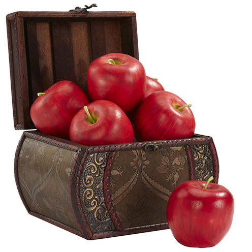 Nearly Natural Set of 6 Faux Apples