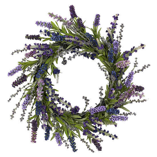 Nearly Natural 20 Lavender Wreath