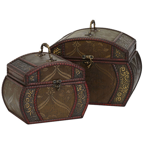 Nearly Natural Set of 2 Decorative Chests