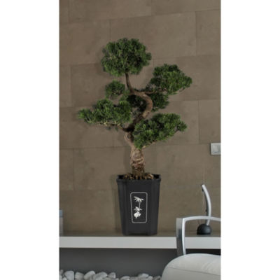 "Nearly Natural 36"" Cedar Bonsai Silk Plant"