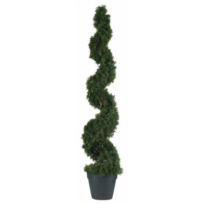 Nearly Natural 4-ft. Cedar Spiral Silk Tree