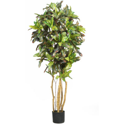 Nearly Natural Croton Silk Tree