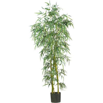 6' Fancy-Style Slim Bamboo Silk Tree