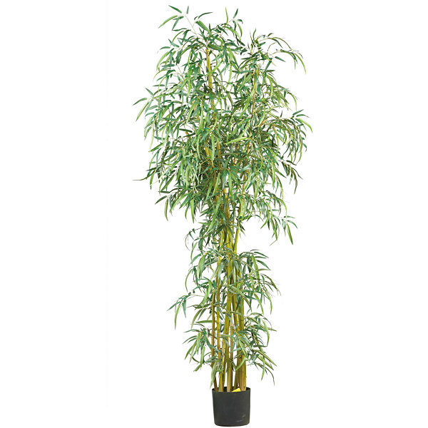 Nearly Natural 7-ft. Curved Slim Bamboo Silk Tree