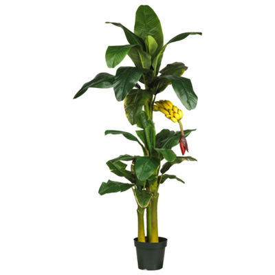 Nearly Natural 6-ft. Triple Stalk Banana Silk Tree