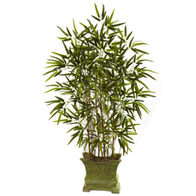 Nearly Natural 45 Bamboo Tree With Decorative Planter