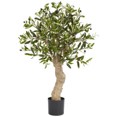 Nearly Natural 2.5-ft. Olive Silk Tree
