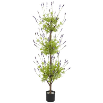 Nearly Natural 4-ft. Lavender Topiary Silk Tree