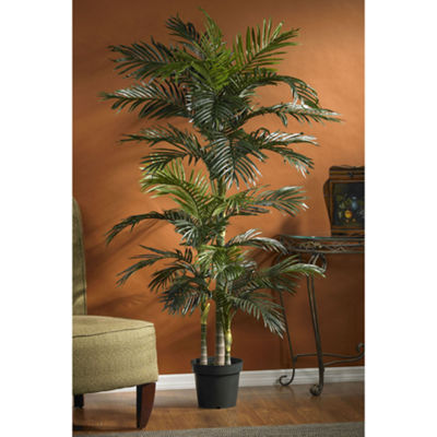 Nearly Natural 6.5-ft. Golden Cane Palm Silk Tree