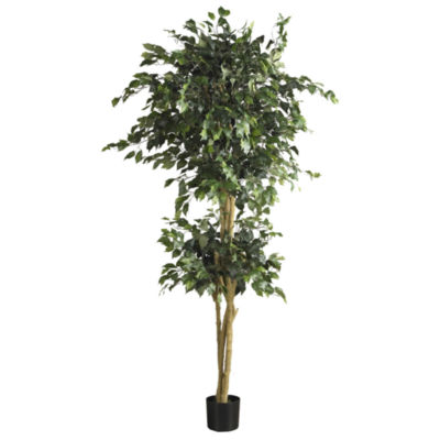 Nearly Natural 6-ft. Double Ball Ficus Silk Tree