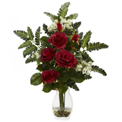 Nearly Natural Rose & Chryistam Arrangement
