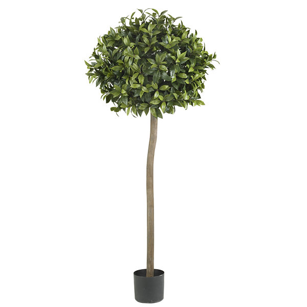 Nearly Natural 5-ft. Sweet Bay Ball Topiary Silk Tree
