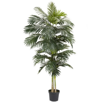 Nearly Natural 8-ft. Golden Cane Palm Silk Tree