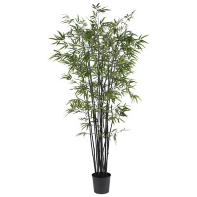 Nearly Natural 6.5-ft. Black Bamboo Silk Tree