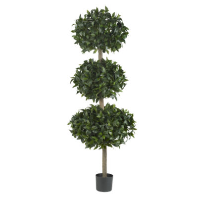 "Nearly Natural 69"" Sweet Bay Triple Ball Tree"