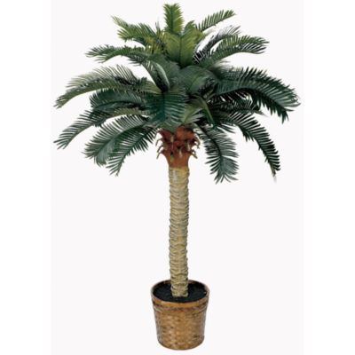 Nearly Natural 4-ft. Sago Silk Palm Tree