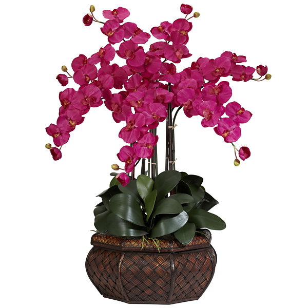 Nearly Natural Large Phalaenopsis Silk Flower Arrangement