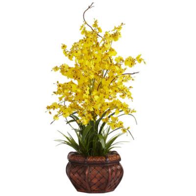 Nearly Natural Dancing Lady Silk Flower Arrangement