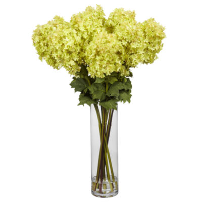 Nearly Natural Giant Hydrangea Silk Flower Arrangement