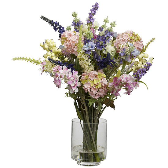 Nearly Natural Lavender & Hydrangea Silk Flower Arrangement