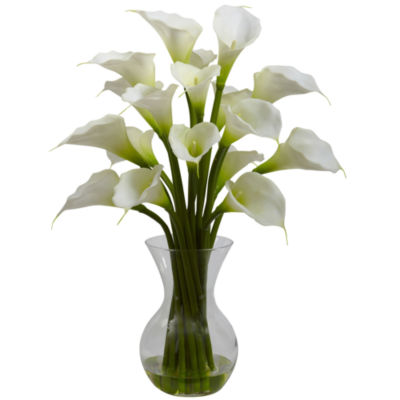 Nearly Natural Gala Calla Lily With Vase Arrangement