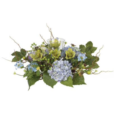 Nearly Natural Hydrangea Candelabrum Centerpiece