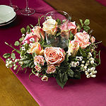 Nearly Natural Rose Candelabrum Silk Flower Arrangement