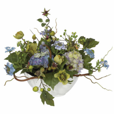 Nearly Natural Hydrangea Centerpiece