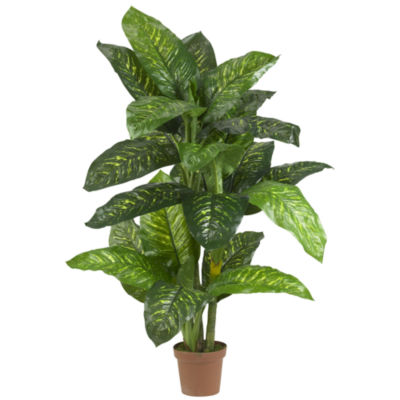 Nearly Natural 5-ft. Real-Touch Dieffenbachia Silk Plant