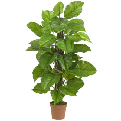 """Nearly Natural 52"""" Large-Leaf Real-Touch Philodendron Silk Plant"""