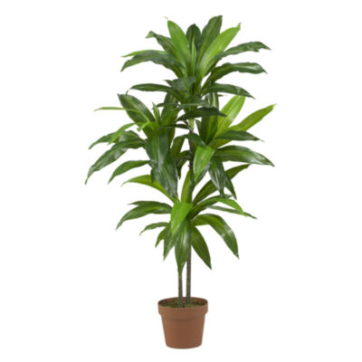 "Nearly Natural 48"" Real-Touch Dracaena Silk Plant"