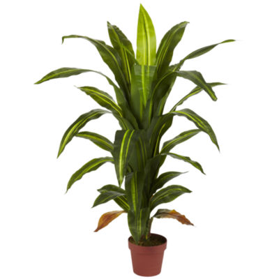 Nearly Natural 4-ft. Dracaena Silk Plant - Real Touch