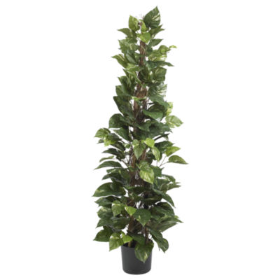 "Nearly Natural 63"" Pothos Climbing Silk Plant"